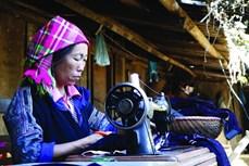 安沛省木江界蒙族妇女的织锦业