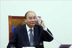 越南政府总理阮春福与法国总理菲利普举行电话会谈