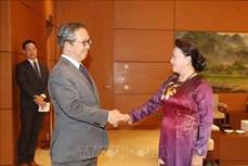 越南国会主席阮氏金银会见日本和柬埔寨驻越大使