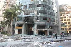 阮富仲就黎巴嫩贝鲁特港口区爆炸事件致慰问电