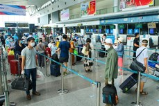 新冠肺炎疫情:越航安排首个航班将被困在岘港市的207名游客送回河内