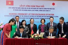 日本向越南提供5000亿越盾无偿援助