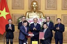越南政府总理阮春福与拟扩大对越投资的日本组织和企业进行座谈