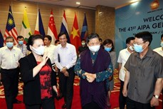 越南国会主席阮氏金银出席第41届东盟议会联盟大会会前彩排活动