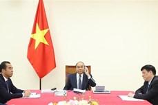 越南政府总理阮春福与德国总理安格拉·默克尔通电话