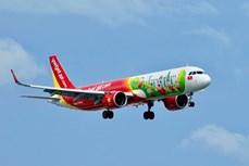 国际航线正式恢复 越捷航空执行飞往韩国的首两趟常规航班