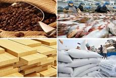 今年前9月越南农林水产品贸易顺差72.5亿美元
