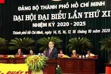 迎接党的十三大:政府总理阮春福出席越共胡志明市第十一次代表大会