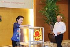 越南国会主席阮氏金银出席为灾区民众爱心捐助活动