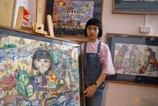 10岁女孩绘制有关新冠肺炎疫情的绘画作品