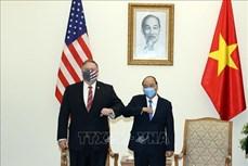 越南政府总理阮春福会见美国国务卿蓬佩奥
