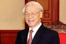 越共中央总书记阮富仲就柬埔寨国庆67周年向柬埔寨国王致贺电