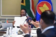 ASEAN 2020:南非签署加入《东南亚友好合作条约》文件