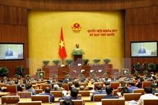 越南第十四届国会第十次会议:越南国会批准关于胡志明市采用城市政府组织形式的决议