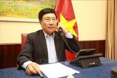 范平明与日本群马县知事山本一太通电话