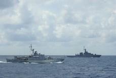 越南人民海军与泰国皇家海军进行第42次联合巡逻