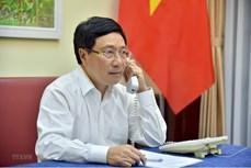 越南政府副总理兼外长范平明与安哥拉共和国外长通电话