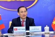 第九次越南-蒙古国外交部副部长级政治磋商以视频方式进行