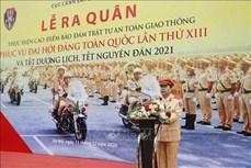 越南交警确保越共十三大期间的交通有序和安全