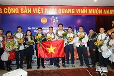 河内学生在IOM奥林匹克竞赛上夺得5金1银2铜