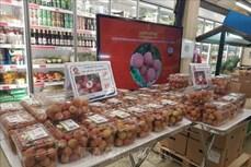 首批带有原产地可追溯标签的清河荔枝在法国超市上架