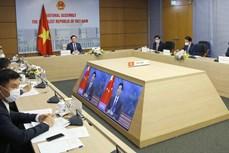 越南国会主席王廷惠与中国全国人大常委会委员长栗战书举行视频会谈