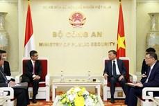 推动越南公安部与印尼有关机构的合作