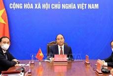 阮春福通过视频会见韩越友好协会主席
