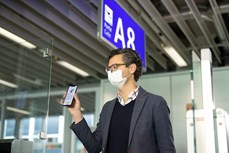 """越航正式试行 """"电子健康护照"""""""