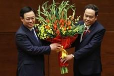 王廷惠同志当选第十五届国会主席