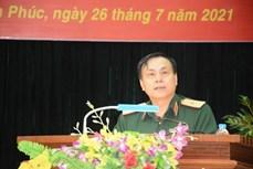 参加2021年国际军事比赛的越南炮兵部队举行出征仪式