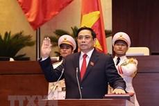 朝鲜内阁总理金德勋致电祝贺范明政当选越南政府总理