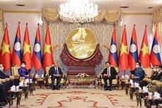 越南外交部副部长阮国勇就越南国家主席阮春福对老挝进行正式友好访问的成果接收了采访