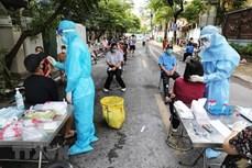8月18日至20日河内市为13组高危人群进行新冠检测