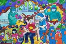 少年儿童作画为新冠疫苗基金募捐2.1亿越盾