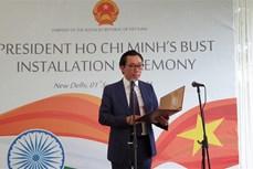 越南国庆76周年:胡志明主席塑像安放仪式在新德里举行