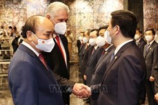 越共中央对外部副部长张光淮南与古共中央对外部领导举行工作座谈