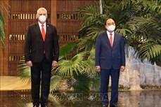 古巴媒体密集报道越南国家主席阮春福正式访古