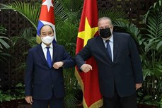 越南国家主席阮春福会见古巴总理