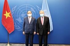 第76届联合国大会:阮春福会见第76届联合国大会主席和联合国秘书长