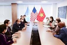越南国家主席阮春福会见美国友人