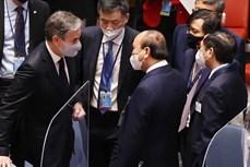 第76届联合国大会:国家主席阮春福会见各国领导