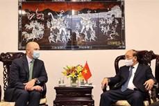 越南国家主席阮春福会见美国领先能源企业领导