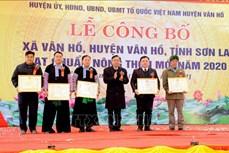 Sơn La có thêm xã Tô Múa và Vân Hồ đạt chuẩn nông thôn mới