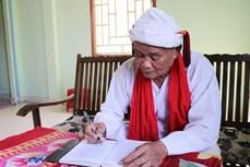 Cả sư Đổng Bạ - Người uy tín tiêu biểu ở vùng đồng bào Chăm