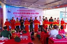 Bộ đội Biên phòng Sơn La chung tay xây dựng điểm trường vùng biên huyện Yên Châu