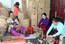 Nghề đan lục bình góp phần tạo việc làm cho phụ nữ ở vùng sâu Kiên Giang