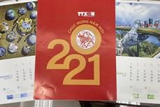 """TTXVN giới thiệu """"lịch 2021 tương tác"""" kết nối với nội dung báo chí"""