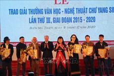 Trao Giải thưởng Văn học - Nghệ thuật Chư Yang Sin giai đoạn 2015 – 2020