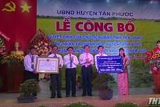 Niềm vui ở Thạnh Hòa - Xã nông thôn mới nâng cao đầu tiên của huyện Tân Phước